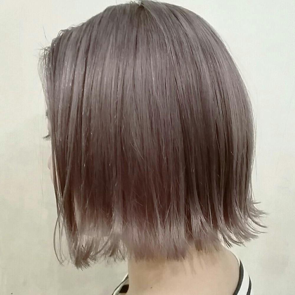 ブリーチなしでできる暗めの髪色オリーブアッシュ おすすめヘア